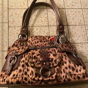 Leopard Kathy Van Zeeland Handbag.